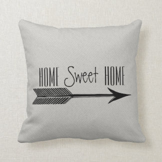 Home Sweet Home Typography With Arrow Cushion