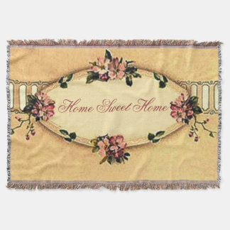 Home Sweet Home Vintage Dogwood Afghan Throw Blanket