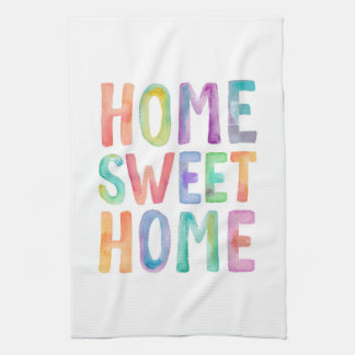 HOME SWEET HOME WATERCOLOR | KITCHEN TOWEL