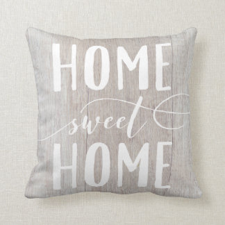 Home Sweet Home White Washed Wood Accent Pillow