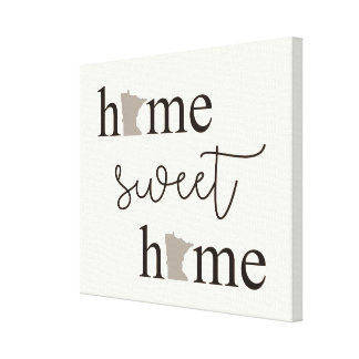 Home Sweet Home with Minnesota Logos Canvas