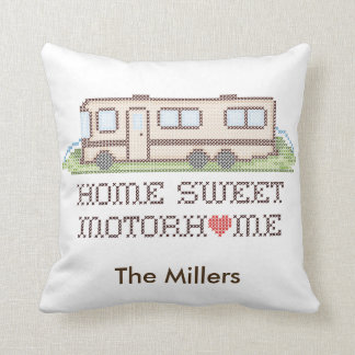 Home Sweet Motor Home, Class A Fun Road Trip Cushion