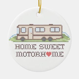 Home Sweet Motor Home, Class A Fun Road Trip Round Ceramic Decoration