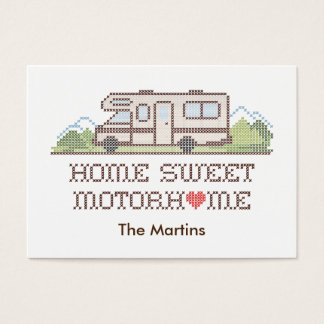Home Sweet Motor Home, Class C Fun Road Trip Business Card