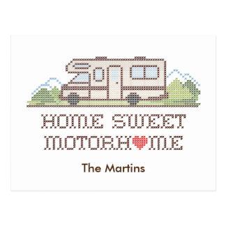 Home Sweet Motor Home, Class C Fun Road Trip Postcard