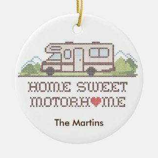 Home Sweet Motor Home, Class C Fun Road Trip Round Ceramic Decoration