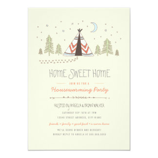 Home Sweet Tipi Housewarming Invite