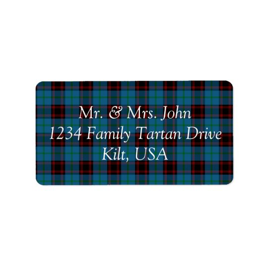 Home Tartan Label Address Label
