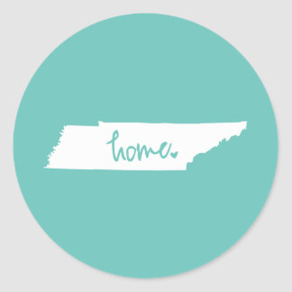 Home Tennessee Custom Color Classic Round Sticker
