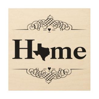 Home Texas Map Wood Print