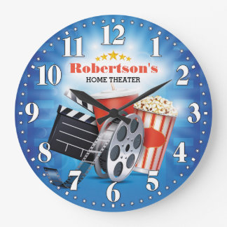 Home Theater Cinema Personalizable Wall Clock