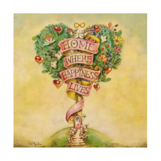 HOME-Tree of Love Wood Canvas