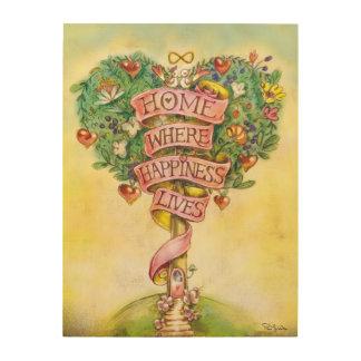 HOME- Tree of Love Wood Prints