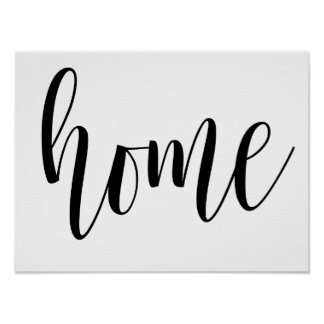 Home typography wall print