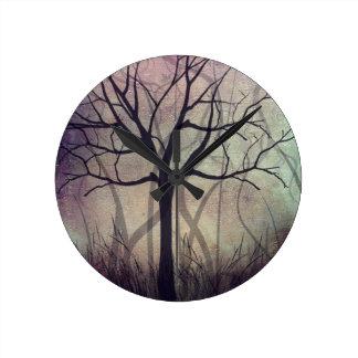 Home Wall Clock Tree Art Twilight
