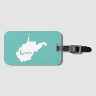 Home West Virginia Custom Color Luggage Tag