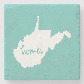 Home West Virginia Custom Color Stone Coaster