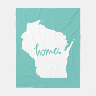 Home Wisconsin Custom Color Fleece Blanket