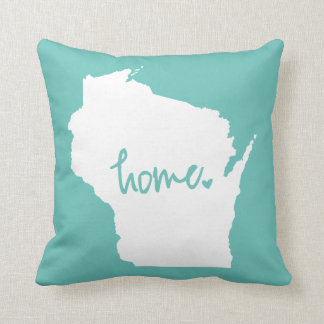 Home Wisconsin Custom Color Throw Pillow
