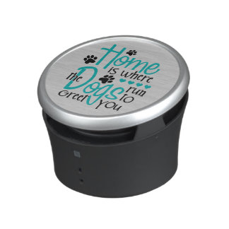 Home With Dog Bluetooth Speaker
