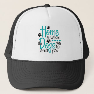 Home With Dog Trucker Hat