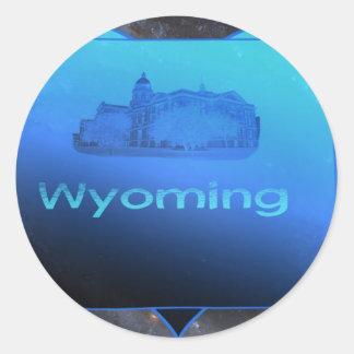 Home Wyoming Round Stickers