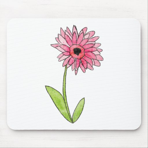 Homeberries Pink Gerber Daisy Mouse Pad
