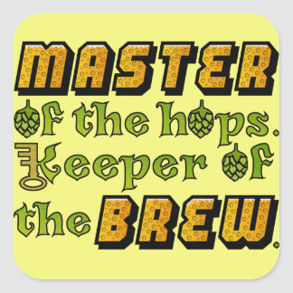 Homebrew Beer Brewer Square Sticker