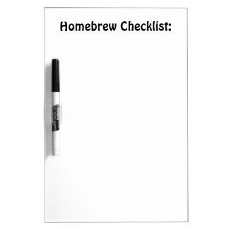Homebrew Checklist Board
