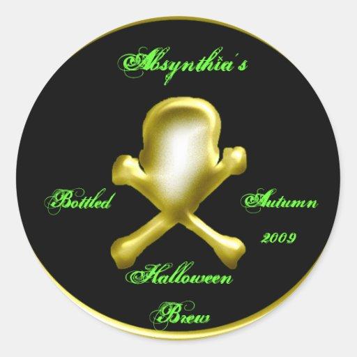 homebrew round stickers