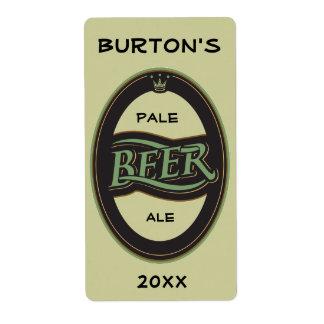 Homebrewed Beer Label