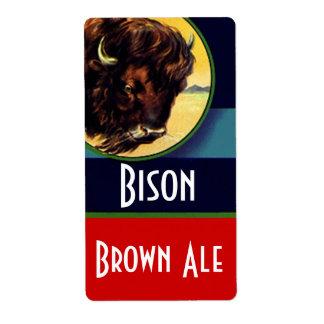 Homebrewing Beer Homebrew Bottle Labels Bison Ale
