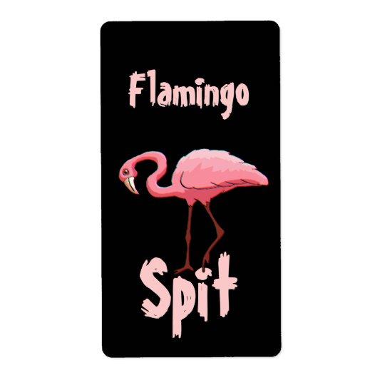 Homebrewing Flamingo Spit Beer Wine Fun Labels