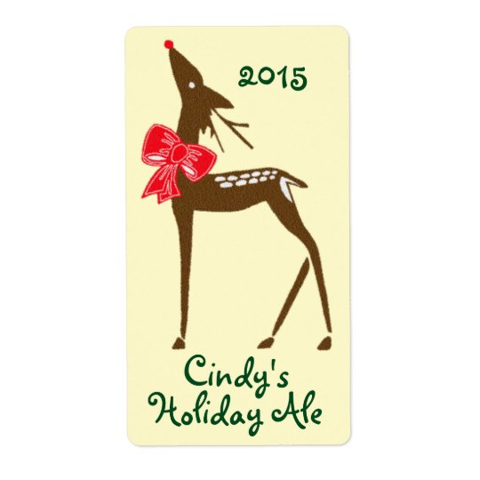 Homebrewing Labels Beer Deer Reindeer Holiday