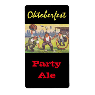 Homebrewing Supplies Beer Brew Oktoberfest Party Shipping Label