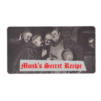 Homebrewing Supplies Beer Label Monks' Secret Brew