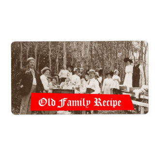 Homebrewing Supplies Beer Label Old Family Recipe Shipping Label