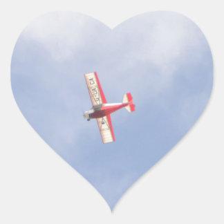 Homebuilt Airplane Heart Sticker