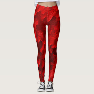 Homegirl Red Dragon Camo Fashion Leggings
