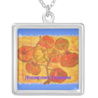 Homegrown Tomatoes Art Necklaces