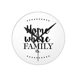 homeiswhereFAMILYis Round Clock