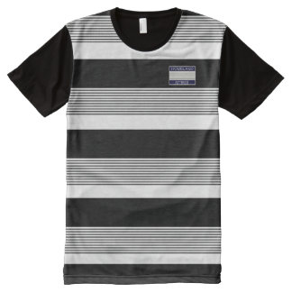 Homeland Attires Design Black White Stripes Shirt