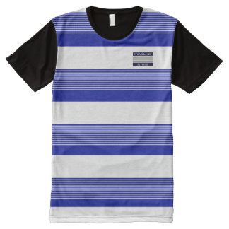 Homeland Attires Design Blue White Stripes Shirt