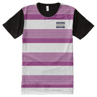 Homeland Attires Design Purple White Stripes Shirt