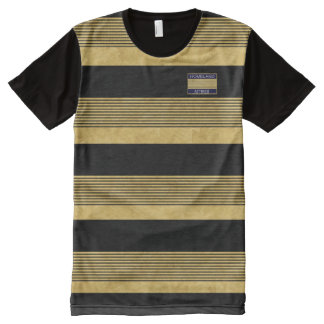Homeland Attires Designer Gold Black Stripes Shirt