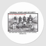 Homeland Security 1492 Classic Round Sticker