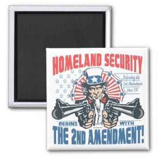 Homeland Security Begins with 2nd Amendment Refrigerator Magnets