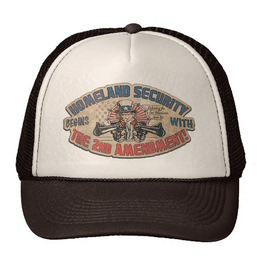 Homeland Security Begins with the Second Amendment Trucker Hat