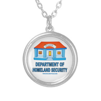 Homeland Security Silver Plated Necklace