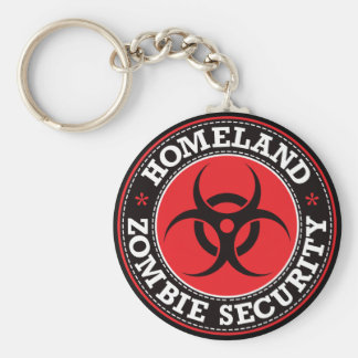 Homeland Zombie Security - Red B Key Chains